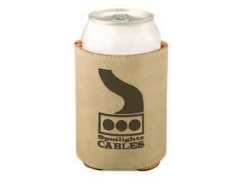 """Laser Engraved  3 3/4"""" Laserable Leather Beverage Holder"""