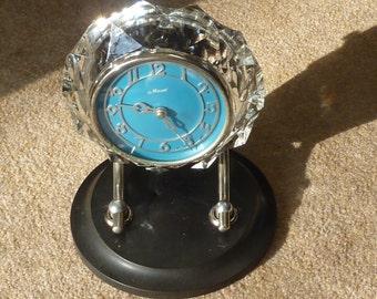 Cut Crystal Masik 8 Day Clock with Bakelite Base