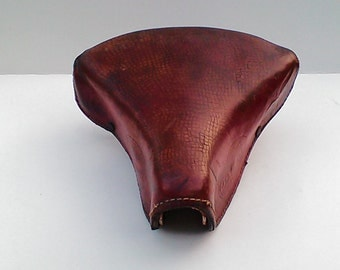 Saddle old motorcycle leather