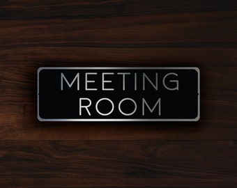 Meeting Room Etsy - Conference room door signs for offices