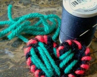 Crochet Heart Pin