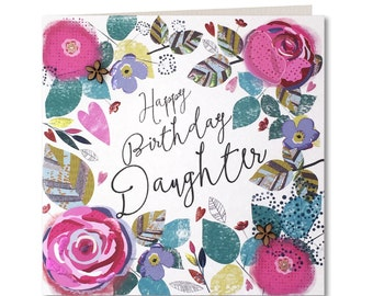 Chroma Collection - Daughter Birthday Card - Happy Birthday Daughter - Birthday Card for Her - Birthday Greeting Card - CH13