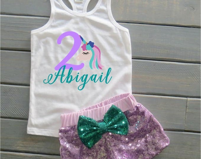 Unicorn Birthday Outfit, Rainbow Birthday, 1st Birthday Outfit, Unicorn Tank, Gifts For Girls