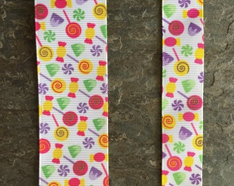 Candy Store printed grosgrain