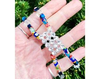 Crystal & Hematite Festival Bracelet