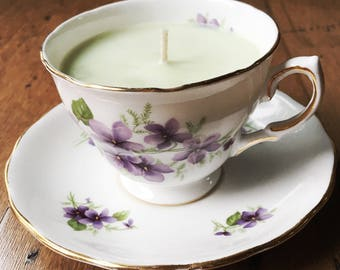 Essential Oil Teacup Candle