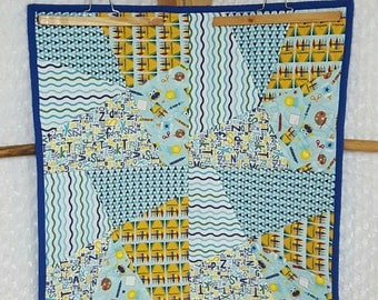 Blue Crayola Crazy Block Quilt **ON SALE**