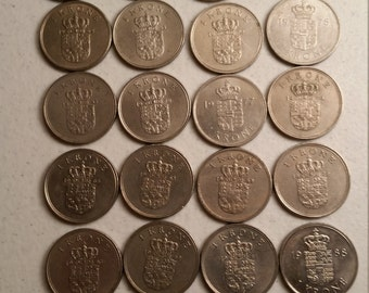 28 denmark vintage coins 1961 - 1988 - coin lot krone - world foreign collector money numismatic a91