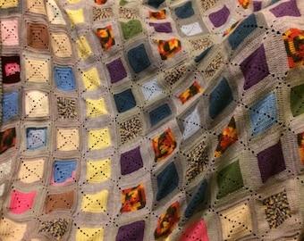 Vintage blanket, totally handmade