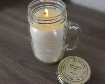 Pina Colada Mason Jar Soy Candle