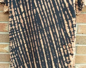 tie dye rust stripes t-shirt