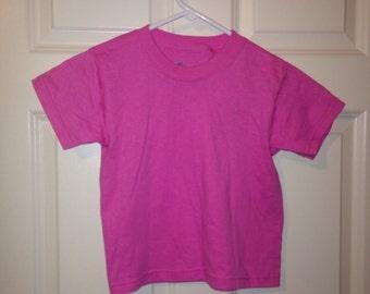 Hot pink crop top tshirt