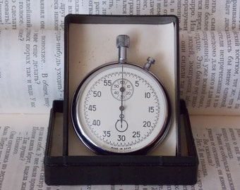Soviet stopwatch, AGAT, Vintage stopwatch USSR, Mechanical chronometer, Working.