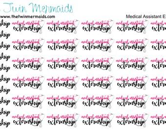 Medical Assistant Externship Planner Stickers