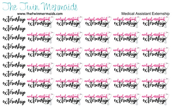 medical assistant externship planner stickers from thetwinmermaids on etsy studio