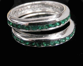 PLATINUM EMERALD BANDS