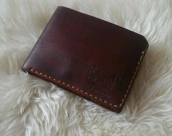 Leather bifold wallet.