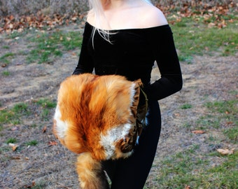 Real Vintage Fox Fur Muff