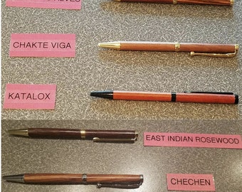 Real Wood Pens - Exotic and Domestic Woods