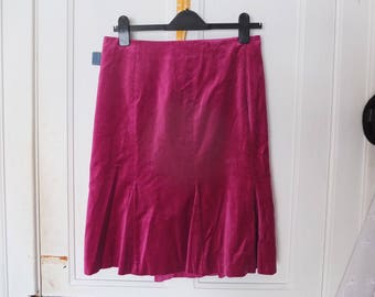 Pink Velvet Fishtail Skirt From Boden
