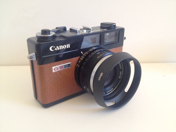 items similar to new lens hood for canon canonet ql17 giii on etsy. Black Bedroom Furniture Sets. Home Design Ideas