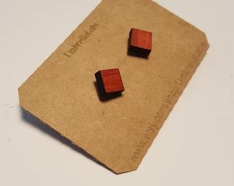 Wood Earrings, Exotic Hardwoods, Free Shipping