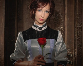 Bioshock infinite Elizabeh white cosplay wedding  retro  dress