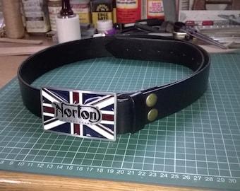 Norton Belt Buckle with Full Grain leather belt