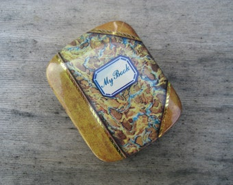 Mini 'My Book' tin box / Looks Like a Book / Dodo Design / 1980's