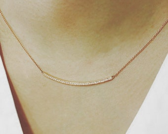 Natural Diamond Necklace, Minimalist Necklace, Diamond Bridal Necklace, Party Necklace, Celebrity Necklace
