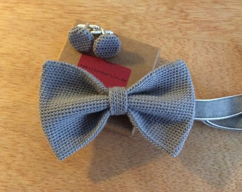 crochet fly / knitting fly silk wool mix grey
