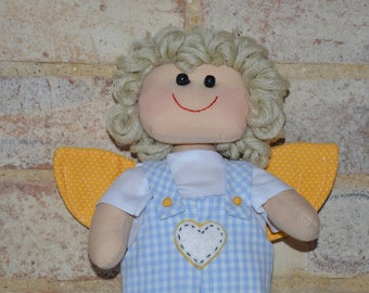 Handmade Rag Doll/Fabric Doll - Theo Doll