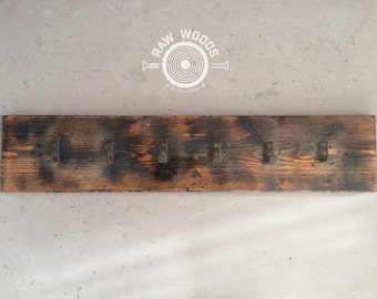 Rustic coat rack 6 Brackets with rust