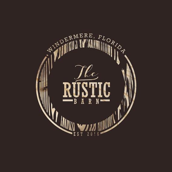 Items similar to Professional Custom Logo, Rustic Logo ...