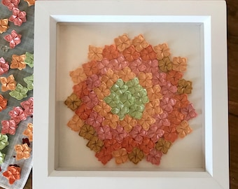 Origami Lotus Framed Picture