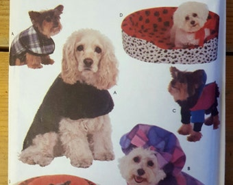 Simplicity Crafts 8928 Dog's Coats, Hats and Beds Sewing Pattern for All Dog Sizes