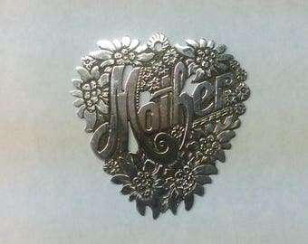 """1946 Sterling Silver """"Mother"""" pendant from Austria"""