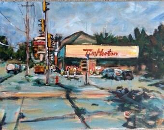 "Original Acrylic Painting, Conner Store--Landscape.  12""x16"", 1612022"