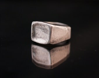 signet ring// silver ring// hand made// vintage ring// hipster ring // biker ring //free shipping worldwide