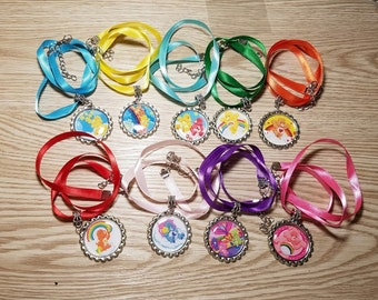 10 Care Bears Necklaces Party Favors