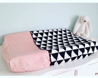 Dress up Cushion cover pink, black and white