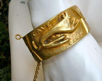 "YVONNE TINDAS 1950 "" Cave Canem "" Bracelet"