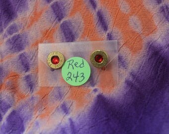 BULLET EARRINGS red 243