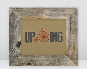 Upcycling, upcycle, red bike, unicycle, instant original art, download, earthy
