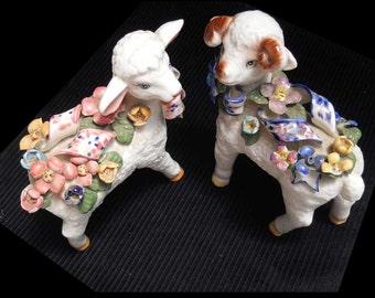 Sheep Ewe Ram Figurine China Vintage