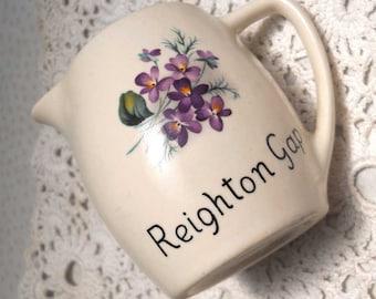 Reighton Gap Milk Jug New Devon Souvenir Ware Vintage