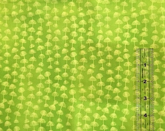 BTHY - Froggin' by Sue Zipkin for Clothworks Textiles, YO844-19 Dark Lime, Daisy Chain Lengthwise Stripe on Tonal Lime Green, HALF YARD