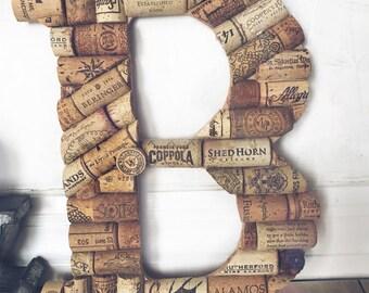 Single Wine Cork Letter