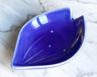 Ring dish - Trinket dish - dish - blue sakura cherry blossom - Gift Jewelry