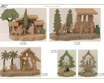 Handmade nativity scenes for christmas tree,natural portuguese tree